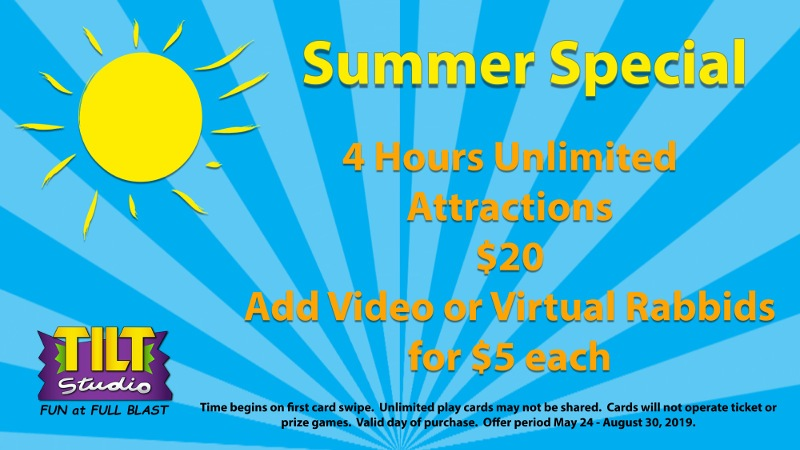 $20 VR Summer Special