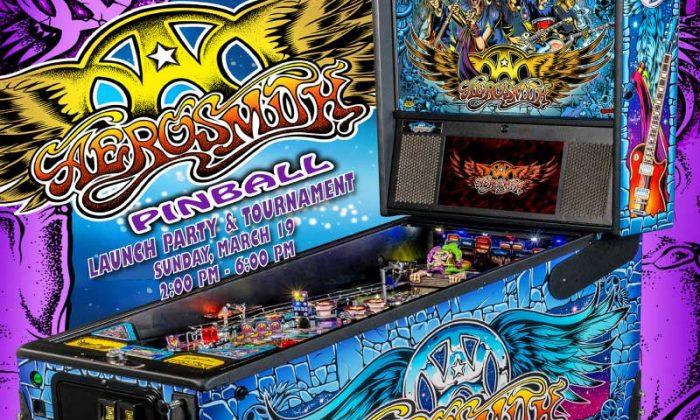 Aerosmith Pinball launch party