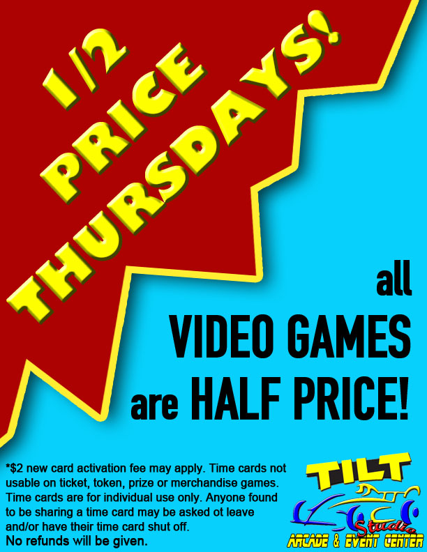 TILT INDIANAPOLIS HALF PRICE THURSDAYS
