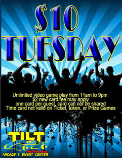 TILT INDIANAPOLIS TEN DOLLAR TUESDAYS