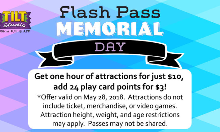 Flash Pass Memorial Day