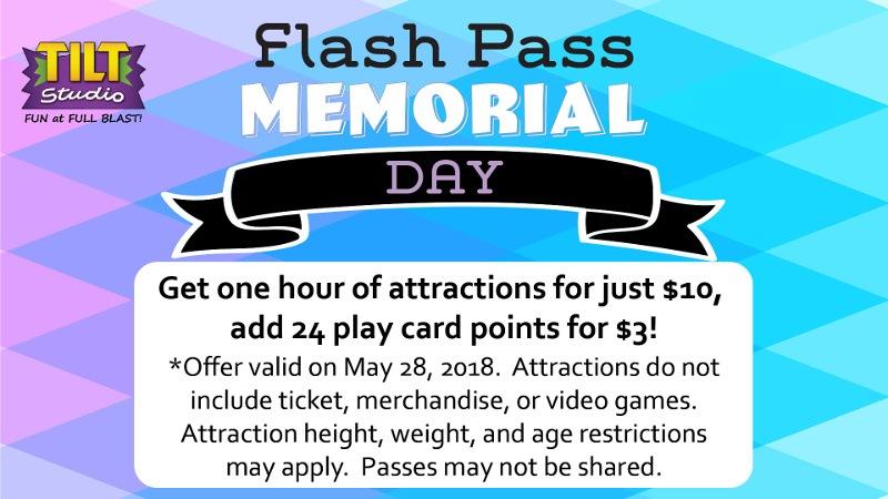 Flash Pass Memorial Day