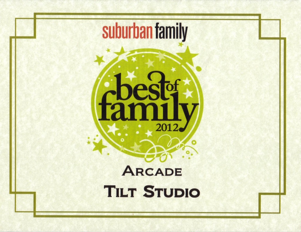 TILT Voorhees voted best arcade in 2012 by Suburban Family!