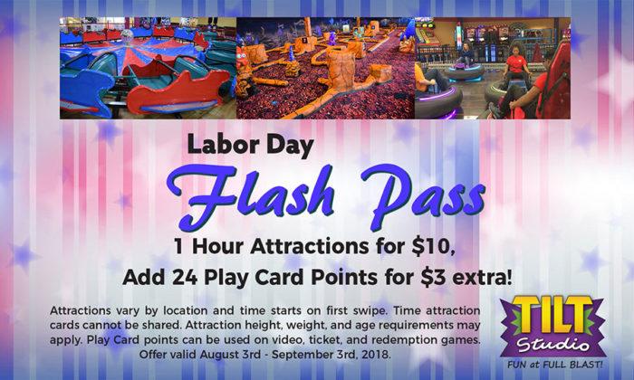 Labor Day Flash Pass